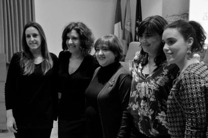 La concejala de Igualdad de Toledo y la directora de la Biblioteca de CLM nos acompañaron el 7 demarzo.
